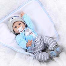 Jolies poupées de renaissance en Silicone pour bébé Reborn 55 cm, faites à la main, poupée réaliste pour bébé 22 pouces, jouets de renaissance en Silicone, cadeaux brinquedos menina