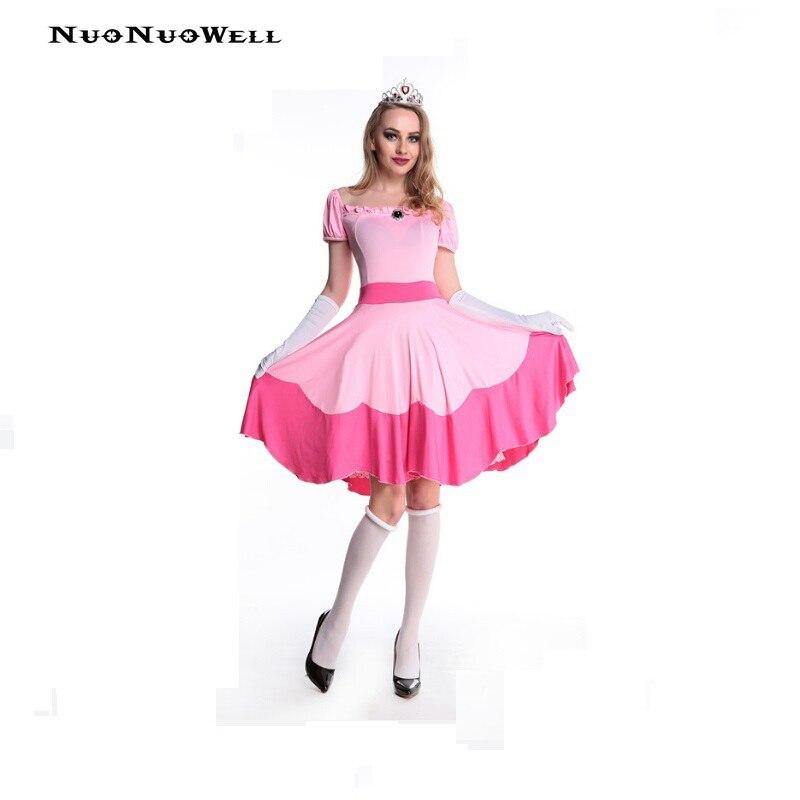 NuoNuoWell Princess Costume Sleeping Beauty Dress Pink Dress Cosplay Dress Snow White Dress White Silk Stockings Cute