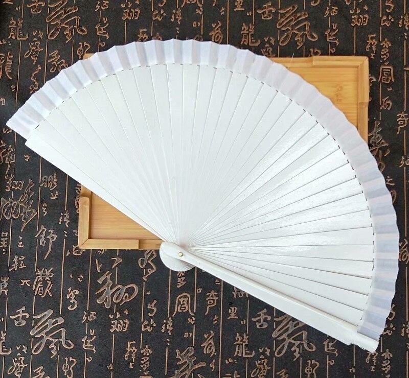 100 Uds. Abanico plegable de madera blanco español para fiesta Regalo boda baile de graduación ventilador envío gratis W7260