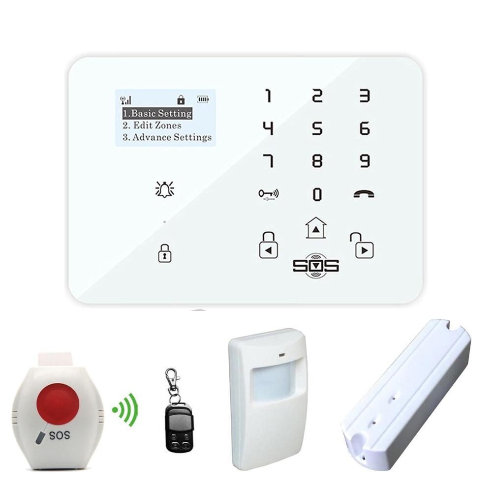 GSM alarma antirrobo alarma sistema de seguridad Android APP control inalámbrico LCD Disply con SOS botón de pánico K9X