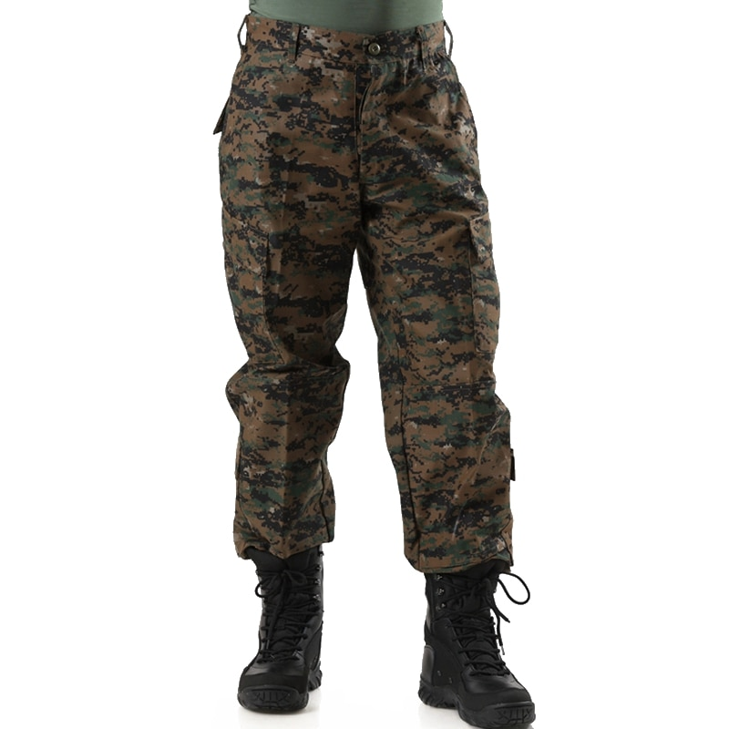 Pantalones tácticos para hombre, ligeros, de camuflaje, de asalto, Cargo, multibolsillo, militar, táctico para Selva, pantalones de camuflaje Digital