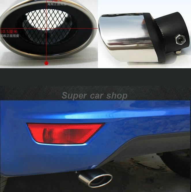 Modificación de silenciador de tubos de cola de acero inoxidable para Peugeot 208 308 408 206 307