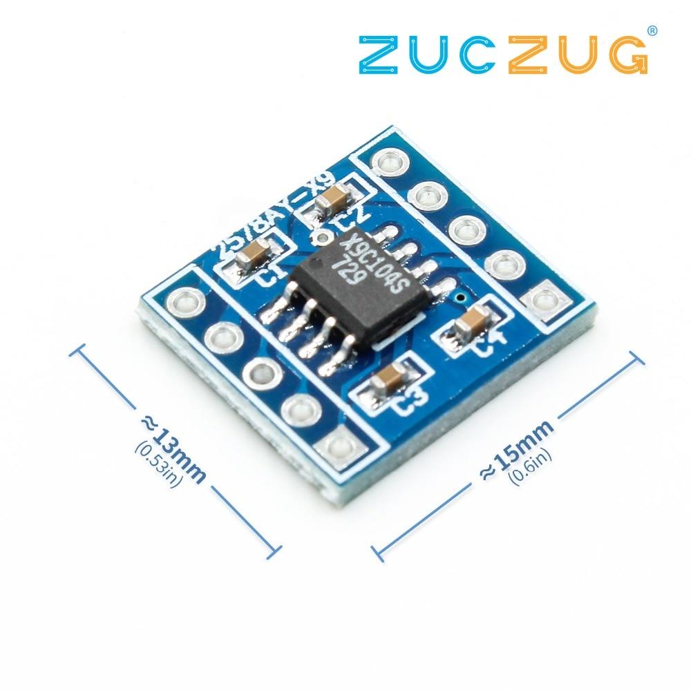 1 pc nova chegada x9c104 módulo de placa módulo potenciômetro digital