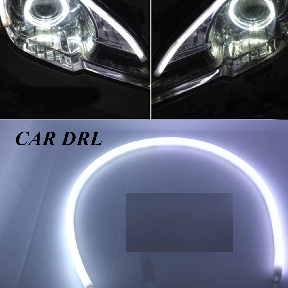 Nueva luz de señal de giro, tubo de lámparas de estacionamiento, tira de luces de circulación diurna de estilo 2 uds 85cm DRL, tira de luces LED flexibles, faro delantero de coche