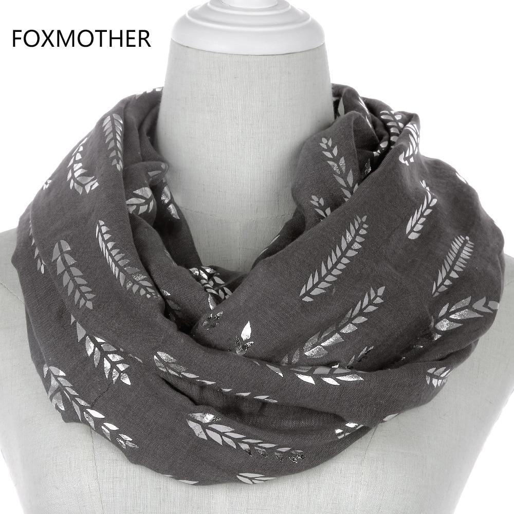FOXMOTHER 2019, новая мода для женщин, розовый, белый, серый, Бронзирующая лента из фольги шарф-кольцо, петля, Snood Foulard для женщин