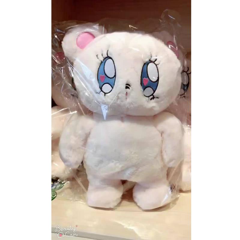 40 см милый мягкий плюшевый белый медведь игрушка японский аниме фигурка комикс глаза медведь куклы игрушки для детей девочки подарок на ден...