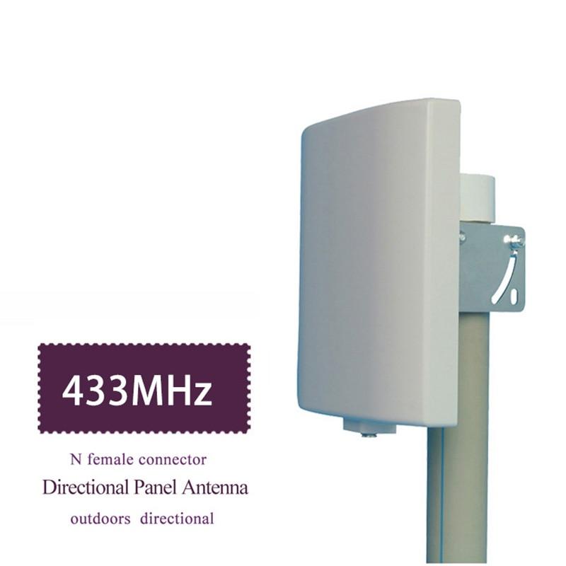 UHF هوائي 433MHz الهوائيات 423 ~ 443MHz جدار جبل التصحيح لوحة مسطحة هوائي Lorawan NB-IOT هوائي