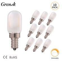 LED Candle Filament Bulb Candelabra Frosted Glass Cover 1W T22 E14 Led Candle Holder Vintage Tubular 2700K Lamp Night Light Bulb