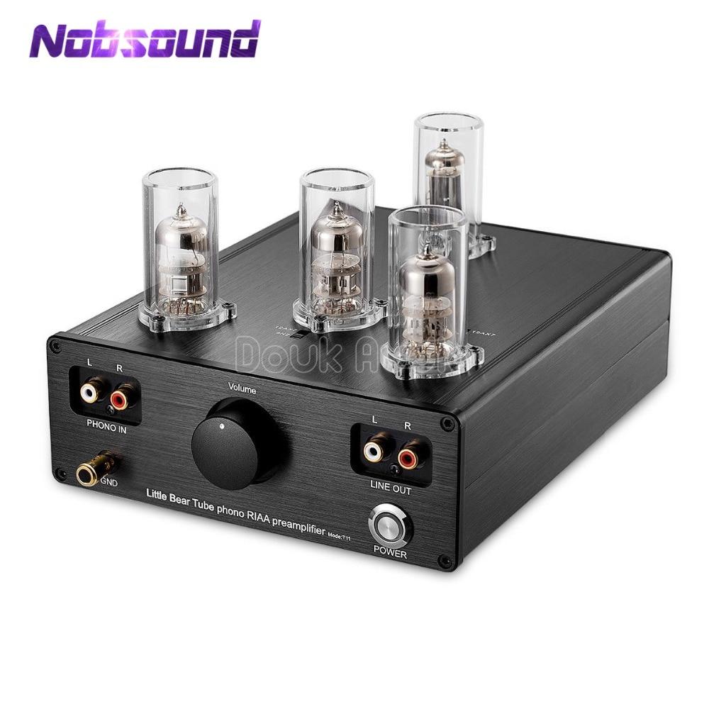 2020 Nobsound Ultime Little Bear T11 6N2/12AX7 Tubo A Vuoto Phono Giradischi Preamplificatore HiFi Pre-Amp MM RIAA fonografo Pre-amplificatore
