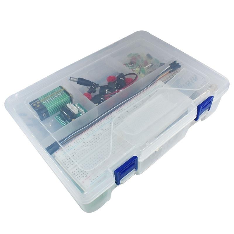 لوحة تطوير مجموعة المبتدئين ATMEGA328 لـ Arduino UNO R3, نسخة مطورة للتعلم 1602 ، يجب على الطلاب LCD