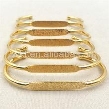 WT-B284 en gros nouveau bijoux accessoire en laiton bracelet en 24 k couleur or nontarnissable qualité garantie