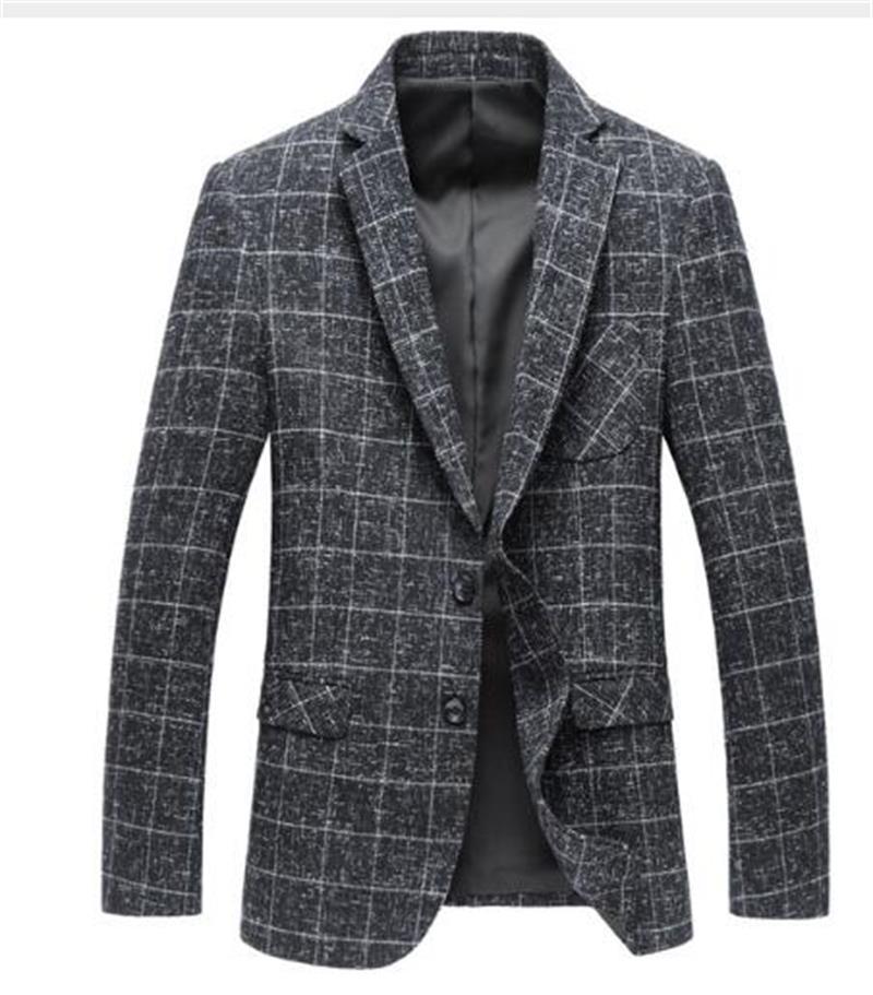 2019 шерстяная модная куртка, Мужская классическая Куртка, стильный Блейзер, Повседневная Деловая индивидуальная Мужская облегающая куртка