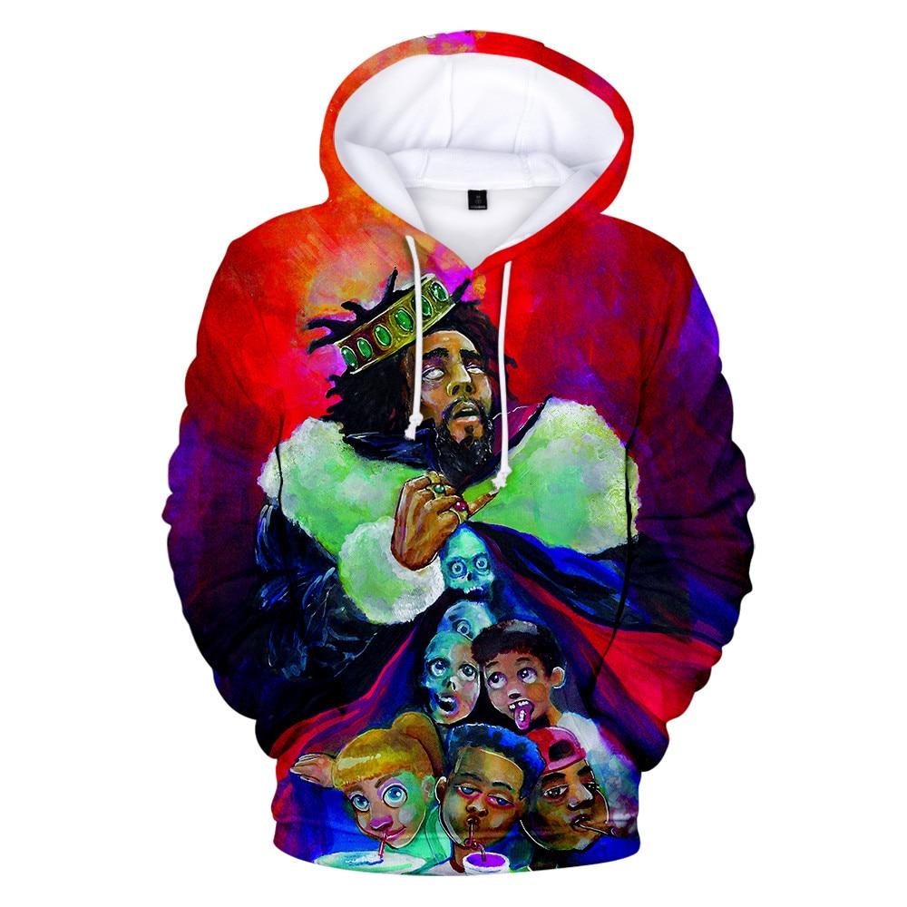 Sudaderas J.Cole con estampado 3d, sudaderas con capucha King Cole, Jersey, sudadera, sudadera para hombres y mujeres, hip hop KOD, ropa chaqueta abrigo de calle