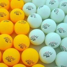 30 50 100 adet 3-Star 40mm 2.9g masa tenisi topları masa tenisi topu beyaz turuncu Ping pong topu amatör gelişmiş eğitim topu
