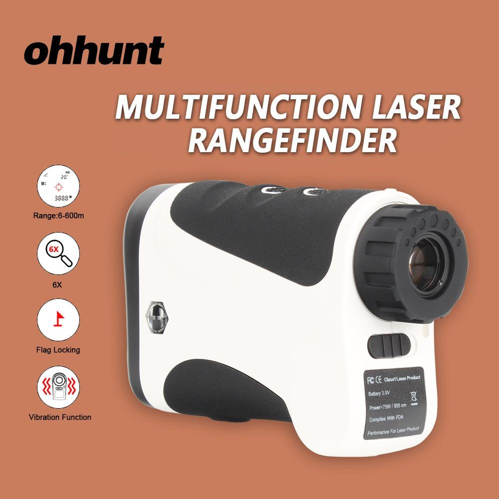 Telémetro láser multifunción ohhunt de 600M para caza, telémetro láser LRF, medidor de distancia láser