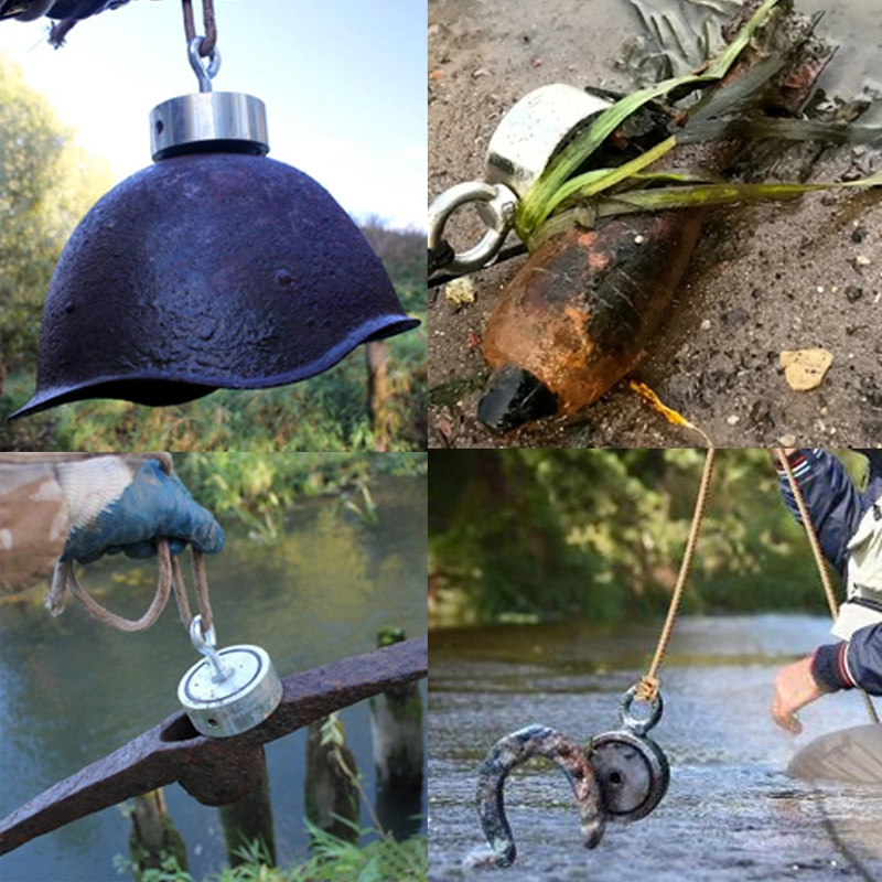 500 кг двухсторонний неодимовый магнит N52 глубоководные рыболовные спасательные магниты D97 * 40 мм Охотник за сокровищами Imanes Магнитный сильный инструмент