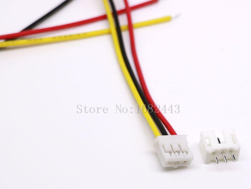 50 комплектов Micro JST 2,0 PH 3-контактный разъем штекерные вилки 300 мм провода кабели
