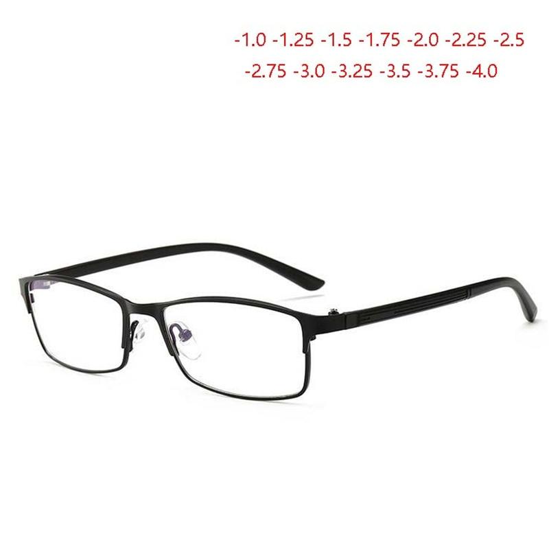 -1,0-1,25-1,5-1,75 Zu-4,0 Anti Blau Licht Fertig Myopie Gläser Männer TR90 Platz brillen Kurze-sighte Brillen