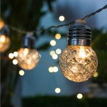 LED الشمسية سلسلة أضواء في الهواء الطلق مقاوم للماء الشمسية مصباح LED سلسلة الجنية أضواء الشمسية أكاليل مصابيح إنارة قطاع عيد الميلاد الزفاف