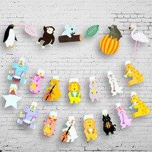 Guirlande dessin animé danimaux 2M   Drapeaux en papier, en forme de Zoo, pour fête prénatale en famille, fournitures de décoration pour fête danniversaire, pour enfants