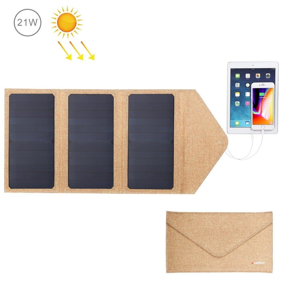 HAWEEL 14W/21W/28W Solar Panel & Dual USB Port Waterproof Foldable Solar Charger bag for iphone/ipad/laptop/Galaxy/Xiaomi/Huawei