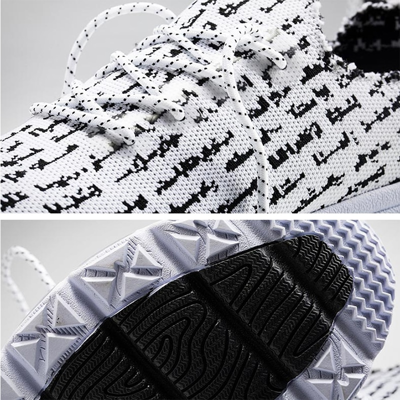 Купить с кэшбэком ONEMIX Men's Running Shoes Women Lace Up Casual Knitted Mesh Vamp Jogging Shoes Damping Cushion For Outdoor Walking Sneakers