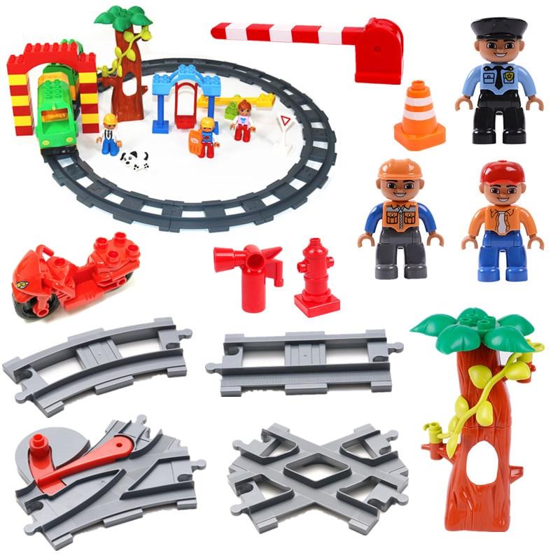 DIY ビルディングブロック線路遊び場アクセサリー部品教育 Duploe 子供のためのおもちゃ誕生日プレゼント