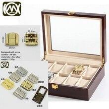 KIMXIN-serrure en alliage de zinc 10 pièces   Serrure daccessoires de quincaillerie pour boîte-cadeau, boîte à bijoux loquet demballage, 10 pièces, 25*32mm