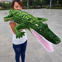 huge 190cm simulation crocodile plush toy soft throw pillow christmas gift b0817