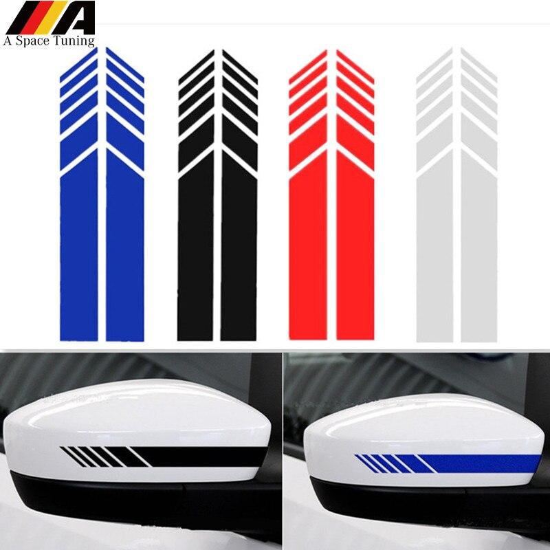 2 шт. Светоотражающие ПВХ наклейки для автомобиля наклейка зеркало заднего вида JDM украшение DIY аксессуары для Benz W204 W212 W117 W176 издание 1 AMG