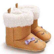 Newborn Infant Baby Boys Girls Cartoon Crib Winter Warm Boots Toddler Prewalker Shoes sapato infantil baby slofjes 10