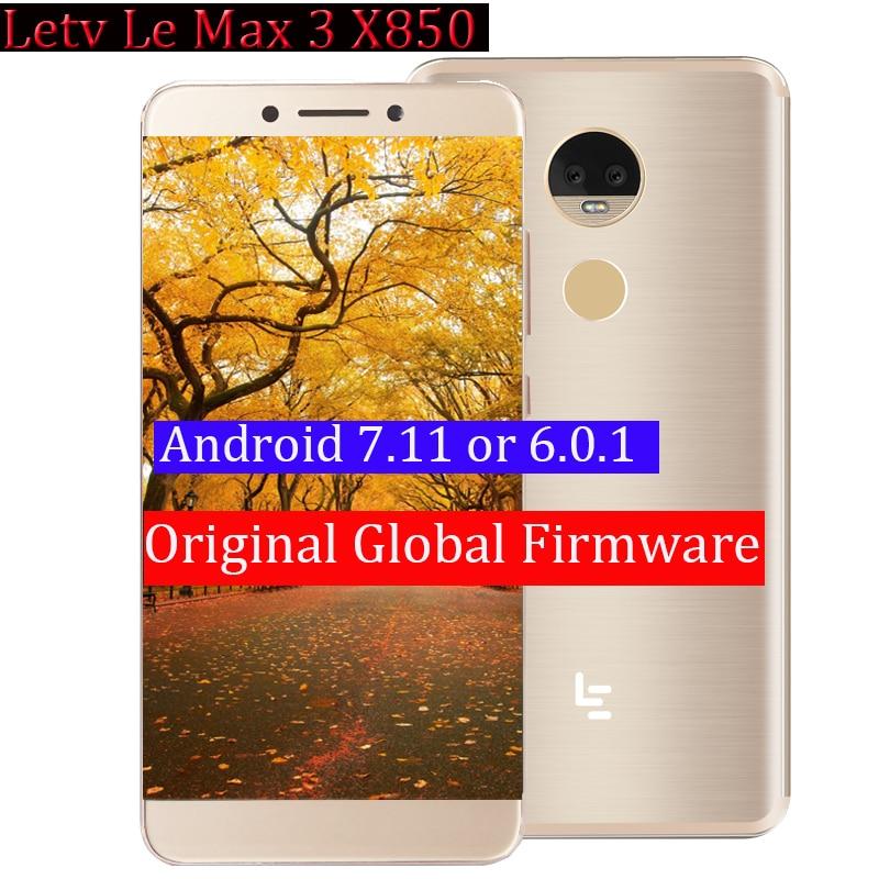 """Original letv leeco ram 4g rom 32g le max3 x850 fdd 4g telefone celular 5.7 """"Polegada snapdragon 821 16mp 2 câmera fábrica estoque telefone"""