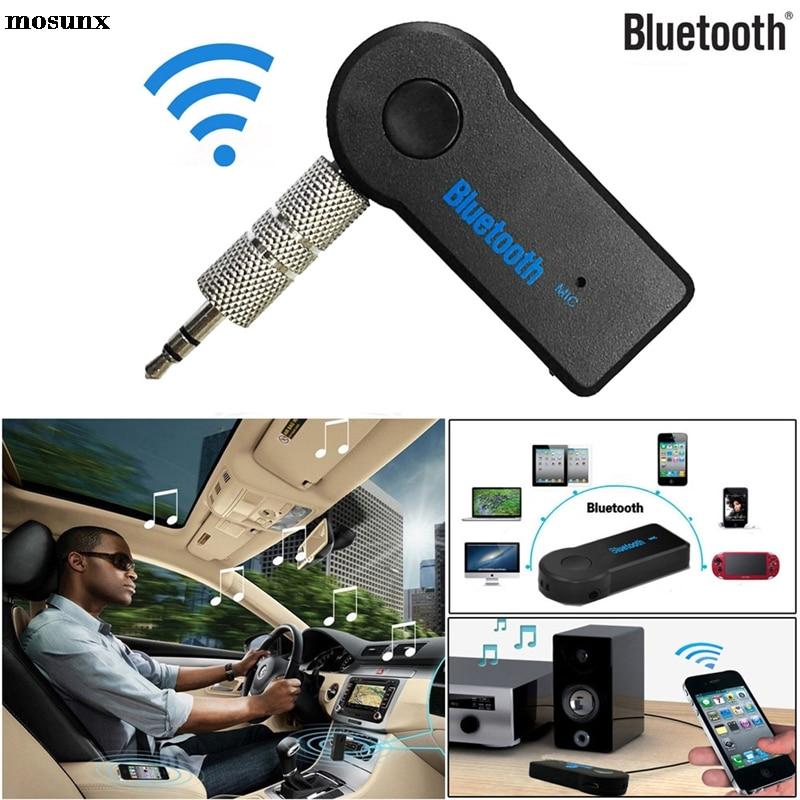 Беспроводной автомобильный ресивер mosunx с микрофоном, 3,5 мм, AUX аудио, стерео, музыка для дома, Прямая поставка