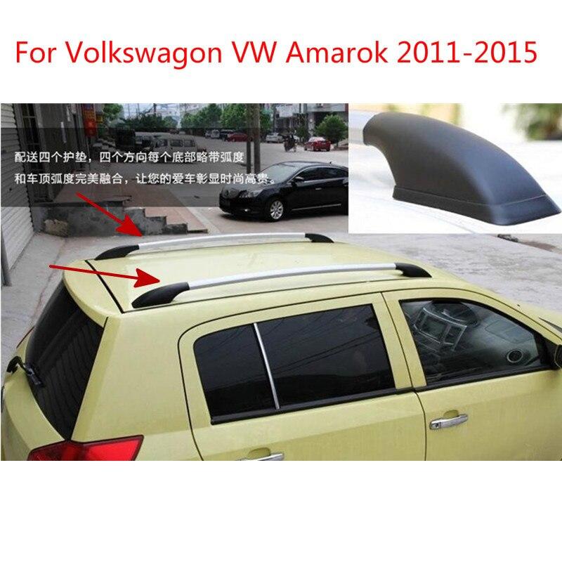 Para Volkswagen Amarok 2011, 2012, 2013, 2014, de aleación de aluminio de 2015 negro de techo con tornillos techo portaequipajes equipaje titular