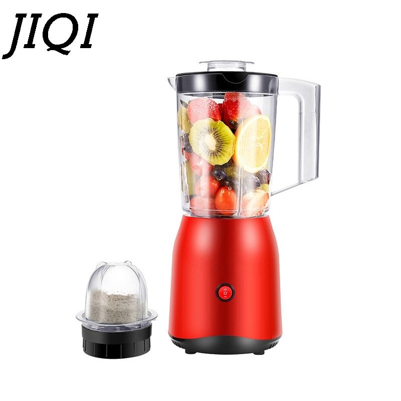 JIQI Elektrische Obst Gemüse Entsafter Babynahrung Prozessor Mixer Prozessor Milchshake Mixer Fleischwolf Saft Maker Maschine EU