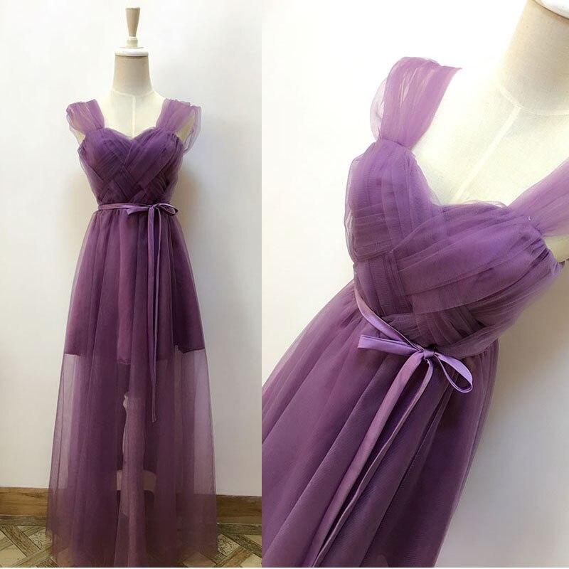 2017 new Bridesmaid Dresses plus size stock cheap under $50 sexy romantic sister simple elegant fashion violet purple long