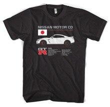 R35 Gtr 니스, 스카이 라인, 자동차, 드리프트, 드래그, 레이스, 가져 오기, Jdm, R33, R34, R32 2019 여름 스타일 고품질 탑스 티셔츠