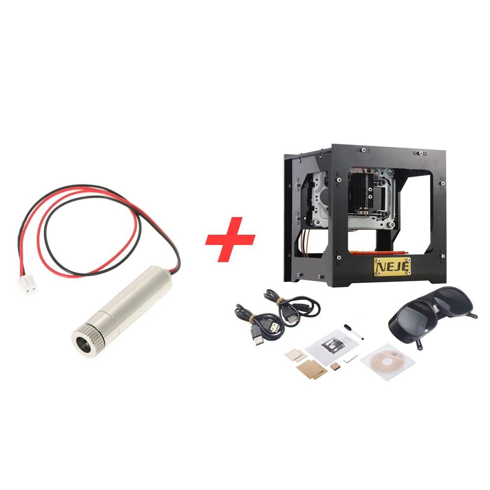 1000mW de alta velocidad cnc enrutador Mini USB láser cortador láser DIY máquina de grabado + 1000mW 405nm luz violeta láser cabeza
