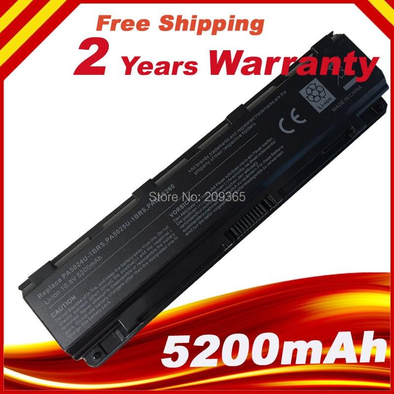 Batería del ordenador portátil para Toshiba Satellite C800 C805 C850 C855 L800 L840 L855 PA5024U-1BRS
