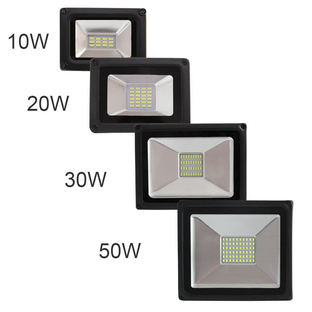 Lámpara LED semipermanente, de 50W, 30W, 20W, 10W, SMD5730, resistente al agua IP65, 175-264V