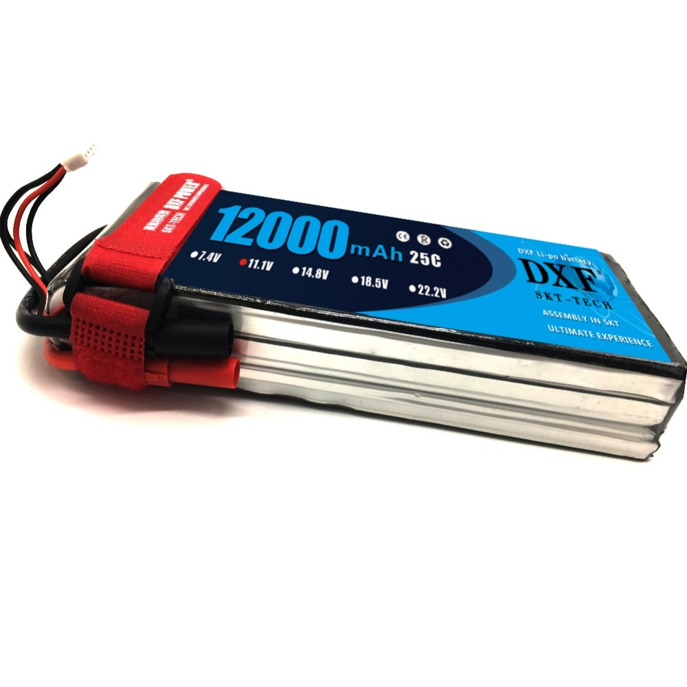 2017 DXF New Arrived RC Lipo Battery 12000mAh 11.1V 3S 25C 60C Li-polymer Bateria For RC Helicopter Drone FPV UAV Car Boat Drone enlarge