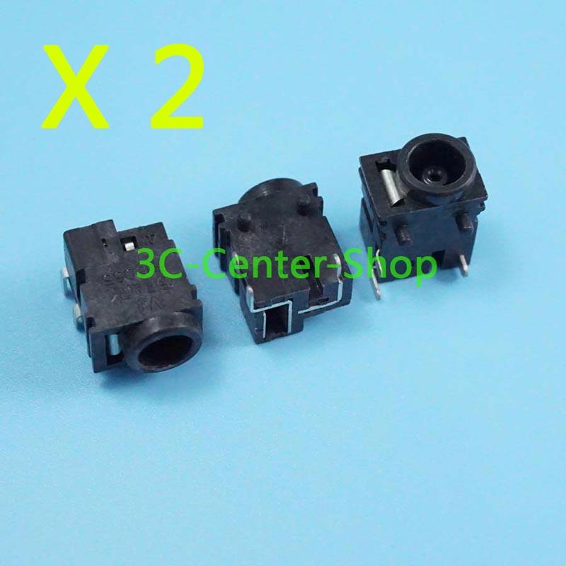 2 uds portátil dc power jack para SAMSUNG V10 V15 P27 X20 X30 R50 R55 P10C NC10 X11 X12 número de seguimiento