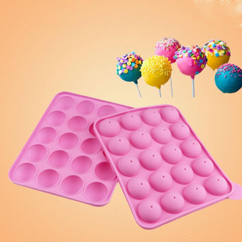 20 Lollipop Silikon Form DIY Backen Fondant-Kuchen Formen Kuchen Formen Schokolade Formen