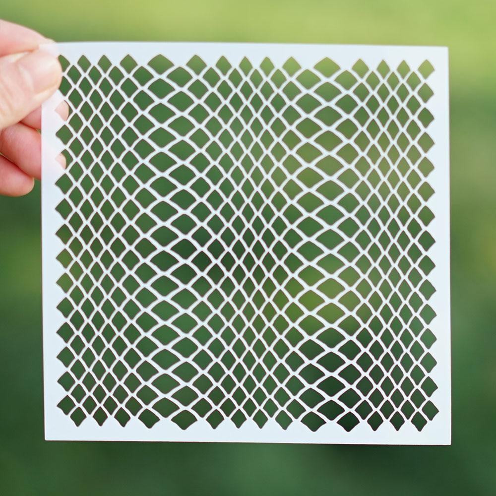 13 cm Decorative Layering Snake Skin Stencil for DIY Scrapbooking/photo album Decorative Embossing DIY Paper Cards Crafts