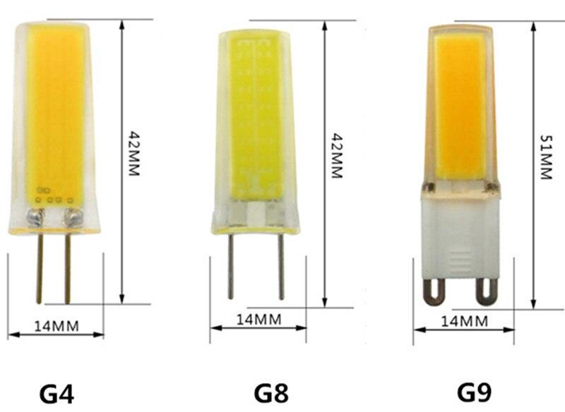 2018 nuevo estilo G9 LED COB0930 220V 110V G4 LED COB0930 G8 110V cristal bombilla araña burbuja nuevo estilo fuente de luz