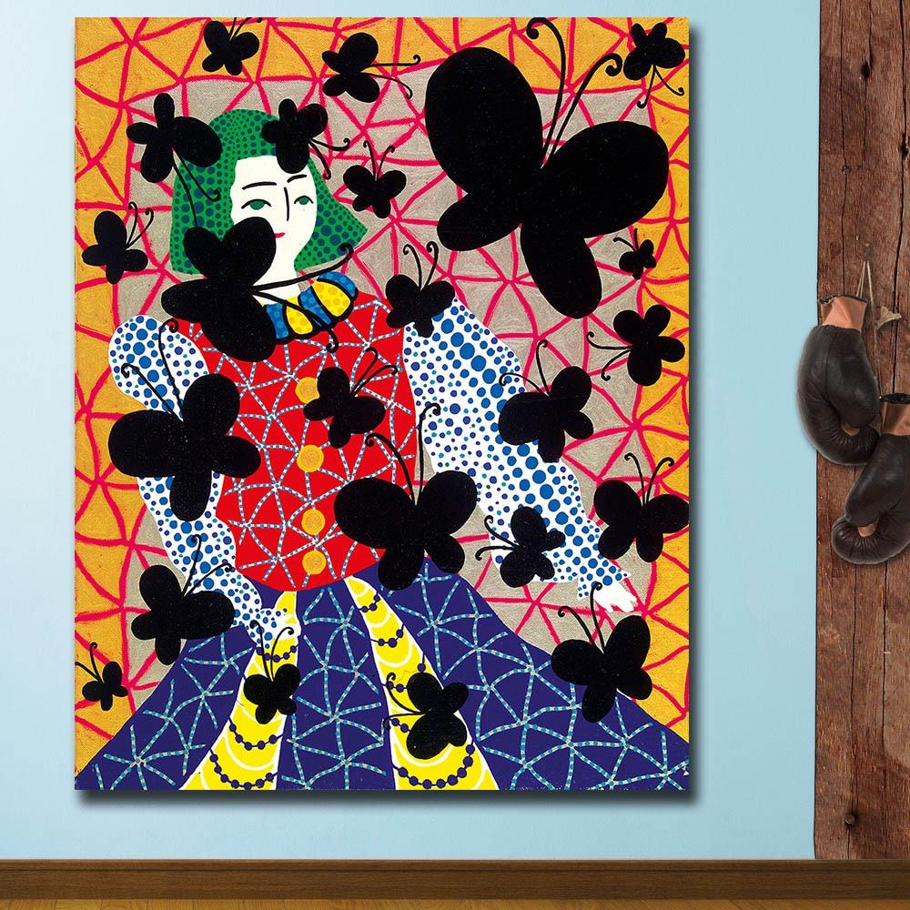 Druck Öl Malerei Wand malerei yayoi kusama the_death_of_youth Hause Dekorative Wand Kunst Bild Für Wohnzimmer Malerei