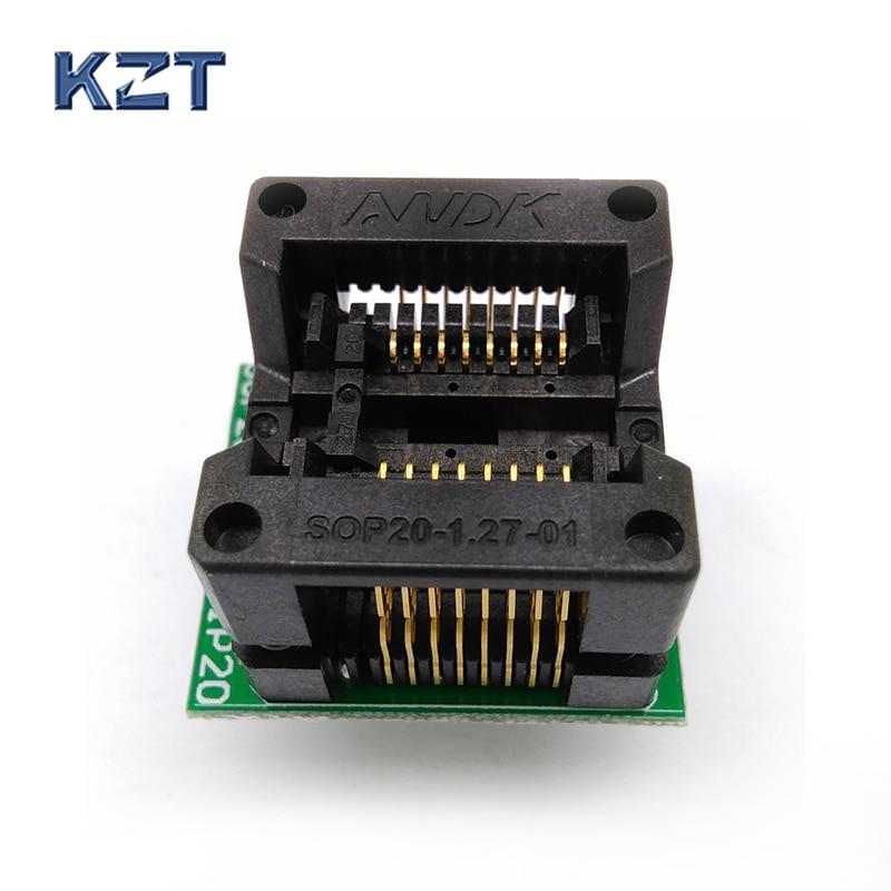 Programação SOP16 SO16 SOIC16 para DIP16 Soquete Passo 1.27mm Adaptador de Tomada de Teste IC Largura Do Corpo 5.4mm 209mil