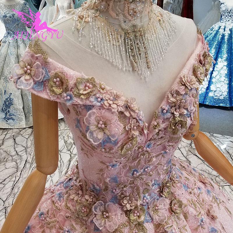 AIJINGYU الزفاف ثوب الدهون حجم أثواب بسيطة للبيع ارتداء مخازن رداء حجم زائد فستان الزفاف مع طويلة الأكمام