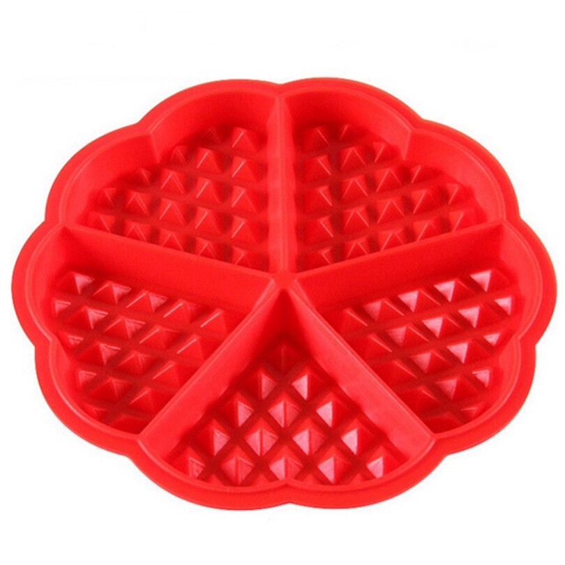 Waffle Maker Machine Kitchen Flower Shape Food Grade Silicone Mini Round Waffles Pan Cake Baking Mould Mold Waffle Tray #4A9