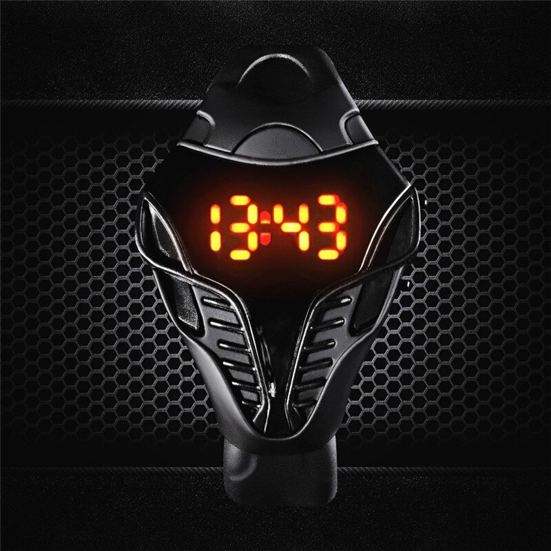 2021 Hot New LED watch unique design silicone hand ring wristwatch For boy girl student Fashion digi